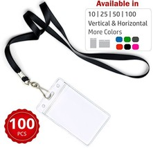 Durably Woven Lanyards & Vertical ID Badge Holders ~Premium Quality, Wat... - $40.92