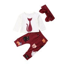 3Pcs new cute Newborn Infant Baby Girls clothes Spring Autumn Cat long s... - $11.99