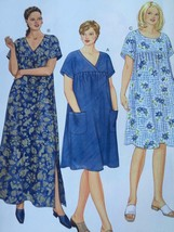 Butterick Sewing Pattern 6601 Misses Ladies Dress Size 16w-20w New - $18.63