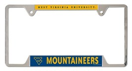 West Virginia Mountaineers Heavy Duty Chrome Metal License Plate Frame - $13.95
