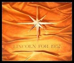 1957 Lincoln Prestige Brochure- Premiere, Capri, HUGE, Original 57 - $28.71
