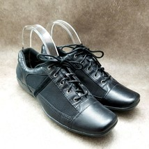 Naturalizer Womens  871N85 Sz 9 N Black  Leather Lace Up Casual Oxford Flats - $29.99