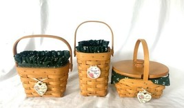 Longaberger Horizon of Hope basket set of 3 1997 1998 1999 Combos Signatures  - $39.20