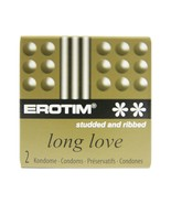 Erotim  Long Love Condoms Studded and Ribbed (12 Packs) Free Shipping - $17.82
