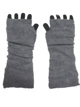 """Grey Solid Soft Knitted 14"""" Arm Warmers Gloves - $159,32 MXN"""