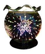 L&V Electric Glass Plug In Night Light Wax Burner Oil Warmer 3 D Effect ... - $20.94