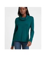 Banana Republic Luxespun Cowl-Neck T-Shirt M Baltic Blue Womens Sweater NWT - $26.00