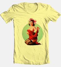 Retro Pin Up Girl Red Dress T-shirt vintage 100% cotton graphic rockabilly tee image 3