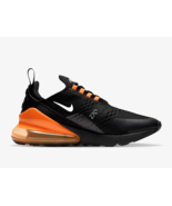 Nike Air Max 270 Mens Trainers in Black and Orange - $209.06