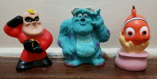 Disney Parks Pixar Bath Pool Toys Set, Mr. Incredible - Sulley - Nemo