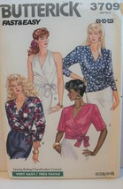 Butterick Sewing Pattern 3709 Misses Top Size 8 10 12 Fast Very Easy Vin... - $8.99