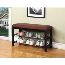 Storage Bench Shoe Rack Entry Hallway Organizer Upholstery Bedroom Micro... - $130.86
