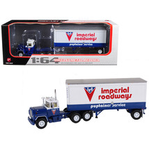 Mack R Model With 28' Pop Trailer Imperial Roadways 1/64 Diecast Model by First  - $74.84