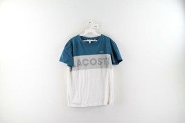 Lacoste Sport Mens Size 5 Large Spell Out Croc Logo Color Block T-Shirt ... - $29.65