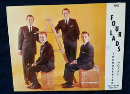 1957 Four Lads Thunderbird Hotel Las Vegas Photo Advertisement! - $20.47
