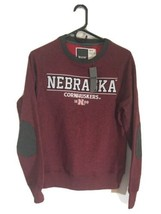 Bruzer Nebraska Cornhuskers Sweatshirt Sweater Men Small Burgundy NWT Ra... - $22.80