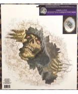Gothic Horror-PEEPER GRIM REAPER-Fridge Window Mirror Cling Halloween De... - $4.92