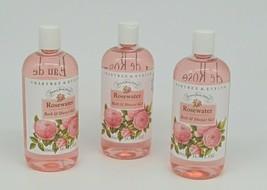 Crabtree Evelyn Rosewater Shower Gel 500 ml e 16.9 fl oz Set of 3 - $98.99