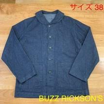 BUZZ RICKSON'S Navy Jeans Lavoro Giacca Tute Cotone Misura 38 Usato Da G... - $324.86
