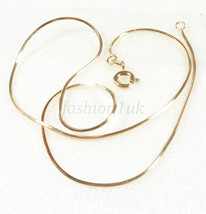 Unisex 45cm Shiny Men Women Snake Rope Cube Chain Necklace 18K Gold Plated - $9.40