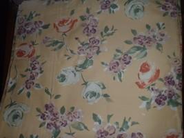 Set of 2 NOS New Vintage Liz Claiborne Window Panels Yellow Floral 40x84 - $55.74