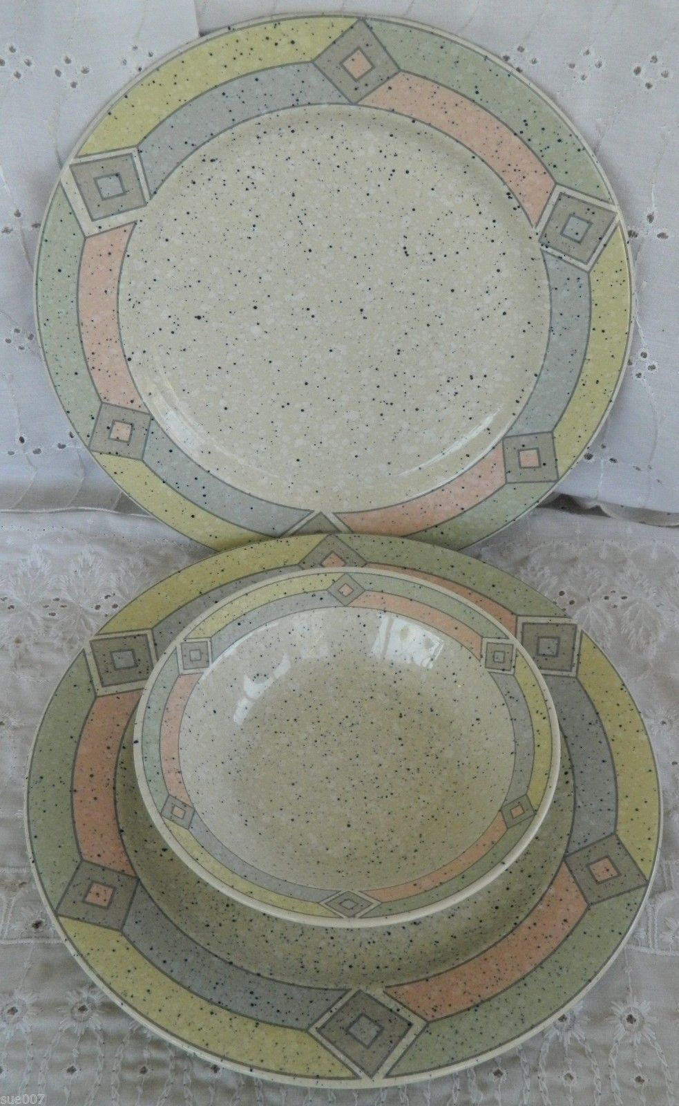 Studio Nova TERRAZZO MB002 Oven to Table 2 Dinner Plates 1 Rim Soup Cereal Bowl & Studio Nova TERRAZZO MB002 Oven to Table 2 and 28 similar items