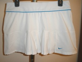 NIKE ACCURACY WOVEN PLEATED TENNIS SKIRT/SKORT TEAL ACCENT SZ MED OR LAR... - $27.99