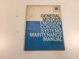 General Motors Emission Control Systems Maintenance Manual Cars & Trucks - $9.99