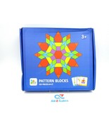 155 Pieces Wooden Puzzle Montessori Pattern Blocks Educational Toy Devel... - $16.78
