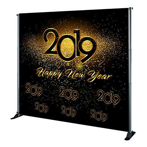 New Year's Party Vinyl Backdrop - 2019 Party Backdrop - Happy New Year Backdrop