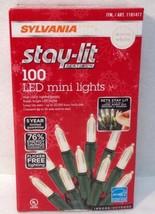 NIB Sylvania Stay-Lit Platinum LED Mini White Lights 400 - 2000 bulbs Fr... - $39.99+