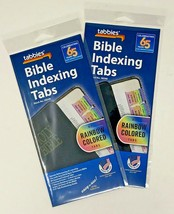 Tabbies Rainbow Colored Bible Indexing Tabs Old&New Testament 80 Tabs 2 ... - $10.88