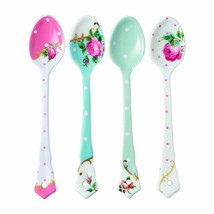 Royal Albert New Country Roses Assorted Vintage Ceramic Spoons Set of 4 New - $79.94