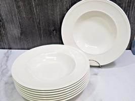 """Set of 8 Wedgwood Windsor 9"""" Rimmed Soup Bowls - $59.40"""