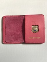 Police Officer  Wife   Generic Mini Shield   PINK Leather ID Wallet - 2018 - $25.74