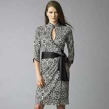 NWT Diane von Furstenberg DVF Kremlin Wall Madame 100% silk wrap dress s... - $246.51