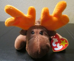 Ty Beanie Baby Chocolate The Moose 1993 5th Generation Hang Tag CREASED - $5.93