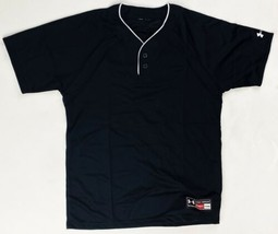 Under Armour SS Baseball Henley Practice Jersey Youth Boy's Girl's Black... - $9.99