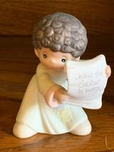 Precious Moments-Mini Nativity Addition-Shepherd Scroll-Have I Got News ... - $12.86
