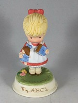Vintage Avon Pretty Little Girl Porcelain Figurine - Joan Walsh Anglund MY ABCs - $11.88