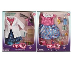 "My Life As Outfit Lot Clothes for 18"" Doll Scientist Candy Accessories Playset - $29.64"