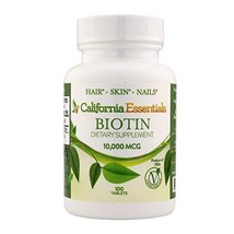 California Essentials High Potency Biotin 10000mcg Tablets - Daily Healthy Hair  image 1