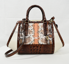 Brahmin Arden Satchel/Shoulder Bag Melon Fisher-Cream/Pecan/Multi. Tri-T... - $349.00