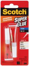 Lot of 2 Two Packs of Scotch General Purpose Super Glue Gel Tubes 0.07oz / 2 gr image 2