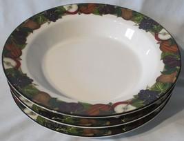 Dansk Cornucopia Fruits Rim Soup or Salad Bowls Set of 3 - $32.56
