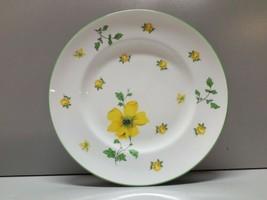ROYAL VICTORIA FINE BONE CHINA SALAD OR DESSERT PLATE YELLOW FLOWERS FLO... - $4.94