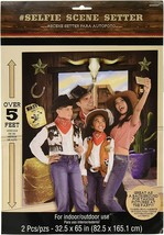 WESTERN Wild Wes Scene Setter Birthday Party Wall Decoration Backdrop Co... - $12.82