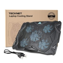 Tecknet Gaming Cooling Pad Quiet Laptop and Notebook Cooling Pad With 5 ... - €26,35 EUR
