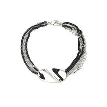 Inspired Silver Silver Tone Traditional Id Chain Twist Bracelet with Scu... - $393,54 MXN