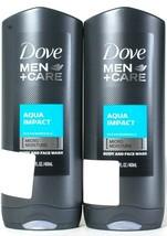 2 Dove Men Care 13.5 Oz Aqua Impact Ocean Minerals Micro Moisture Body F... - $26.99